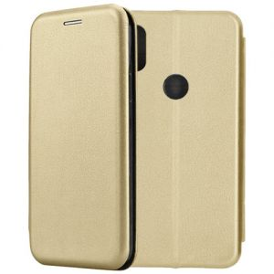 Чехол-книжка кожаный для Xiaomi Mi Mix 2S (золотистый) Book Case Fashion