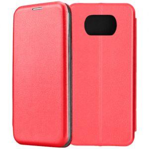 Чехол-книжка для Xiaomi POCO X3 NFC / X3 Pro (красный) Fashion Case