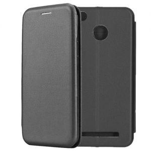 Чехол-книжка кожаный для Xiaomi Redmi 3s / 3 Pro (черный) Book Case Fashion