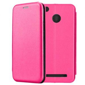 Чехол-книжка кожаный для Xiaomi Redmi 3s / 3 Pro (розовый) Book Case Fashion