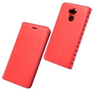 Чехол-книжка кожаный для Xiaomi Redmi 4 Pro / Prime (красный) Book Case New