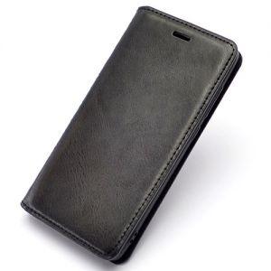 """Чехол-книжка кожаный для Xiaomi Redmi 4 / Pro / Prime """"Book Case New"""" (черный)"""