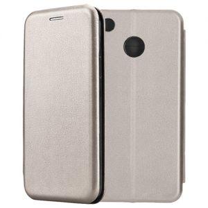 Чехол-книжка кожаный для Xiaomi Redmi 4X (серый) Book Case Fashion