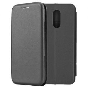 Чехол-книжка кожаный для Xiaomi Redmi 5 Plus (черный) Book Case Fashion