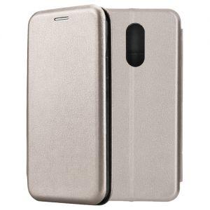Чехол-книжка кожаный для Xiaomi Redmi 5 (серый) Book Case Fashion