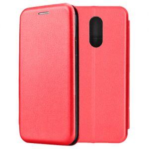 Чехол-книжка кожаный для Xiaomi Redmi 5 (красный) Book Case Fashion