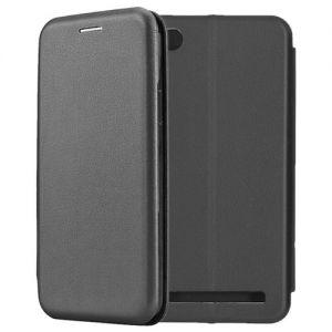 Чехол-книжка кожаный для Xiaomi Redmi 5A (черный) Book Case Fashion