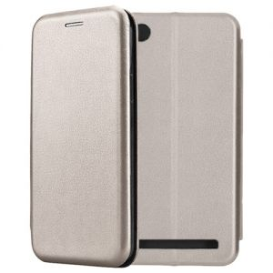 Чехол-книжка кожаный для Xiaomi Redmi 5A (серый) Book Case Fashion