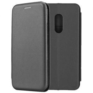 Чехол-книжка кожаный для Xiaomi Redmi Note 4 (черный) Book Case Fashion