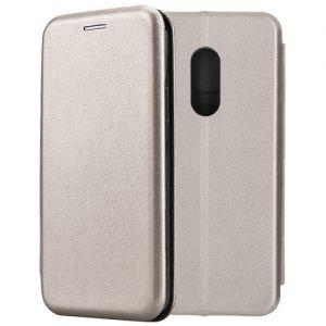 Чехол-книжка кожаный для Xiaomi Redmi Note 4 (серый) Book Case Fashion