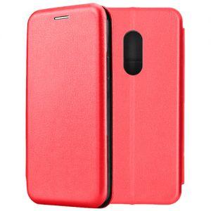 Чехол-книжка кожаный для Xiaomi Redmi Note 4 (красный) Book Case Fashion