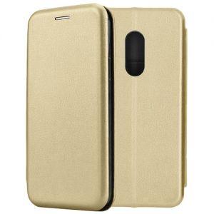 Чехол-книжка кожаный для Xiaomi Redmi Note 4 (золотистый) Book Case Fashion