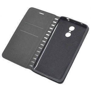 Чехол-книжка кожаный для Xiaomi Redmi Note 4X (черный) Book Case New