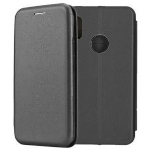 Чехол-книжка кожаный для Xiaomi Redmi Note 5 / Pro (черный) Book Case Fashion