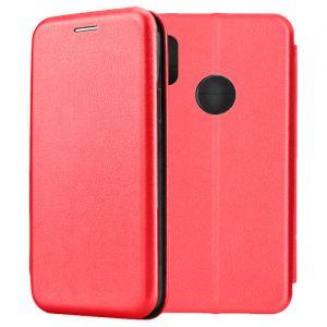 Чехол-книжка кожаный для Xiaomi Redmi Note 5 / Pro (красный) Book Case Fashion