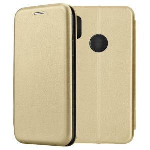 Чехол-книжка кожаный для Xiaomi Redmi Note 5 / Pro (золотистый) Book Case Fashion