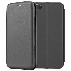 Чехол-книжка кожаный для Xiaomi Redmi Note 5A (черный) Book Case Fashion