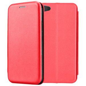 Чехол-книжка кожаный для Xiaomi Redmi Note 5A (красный) Book Case Fashion