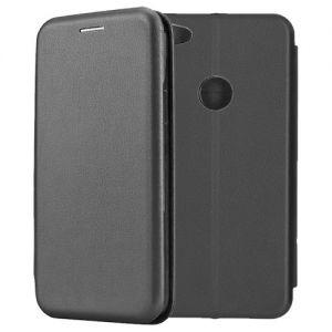 Чехол-книжка кожаный для Xiaomi Redmi Note 5A Prime (черный) Book Case Fashion