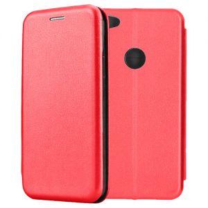 Чехол-книжка кожаный для Xiaomi Redmi Note 5A Prime (красный) Book Case Fashion