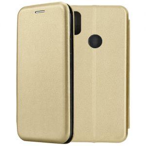 Чехол-книжка кожаный для Xiaomi Redmi S2 (золотистый) Book Case Fashion