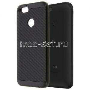 Чехол-накладка для Xiaomi Mi A1 / Mi5x [карбон] Hybrid (черный)