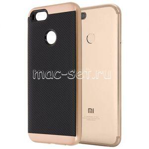 Чехол-накладка для Xiaomi Mi A1 / Mi5x [карбон] Hybrid (розовый)