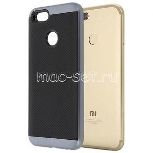 Чехол-накладка для Xiaomi Mi A1 / Mi5x [карбон] Hybrid (серый)
