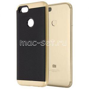 Чехол-накладка для Xiaomi Mi A1 / Mi5x [карбон] Hybrid (золотистый)
