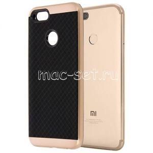 Чехол-накладка для Xiaomi Mi A1 / Mi5x [решетка] Hybrid (розовый)