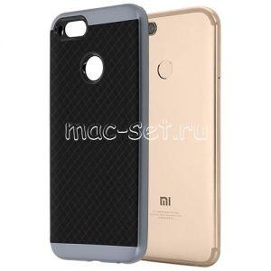 Чехол-накладка для Xiaomi Mi A1 / Mi5x [решетка] Hybrid (серый)