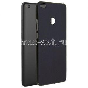 Чехол-накладка силиконовый для Xiaomi Mi Max 2 (черный 0.8 мм) Soft-Touch