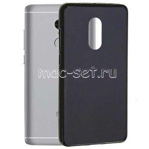 Чехол-накладка силиконовый для Xiaomi Redmi Note 4 (черный 0.8мм) Soft-Touch