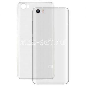 Чехол-накладка силиконовый для Xiaomi Mi5 (прозрачный 0.5мм)