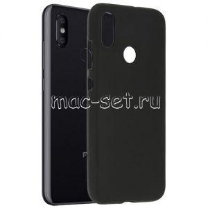 Чехол-накладка силиконовый для Xiaomi Mi8 (черный 0.8мм)