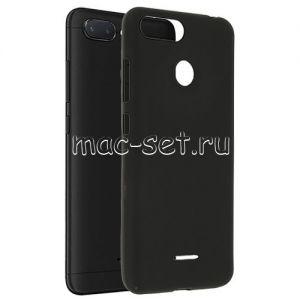 Чехол-накладка силиконовый для Xiaomi Redmi 6 (черный 0.8мм)