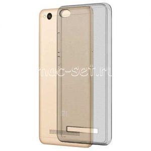 Чехол-накладка силиконовый для Xiaomi Redmi 4A [толщина 0.3 мм] (серый)