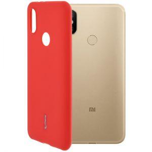 Чехол-накладка силиконовый для Xiaomi Mi A2 / Mi6X (красный) Cherry