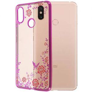 Чехол-накладка силиконовый для Xiaomi Mi Max 3 (розовый) Hallsen Shine