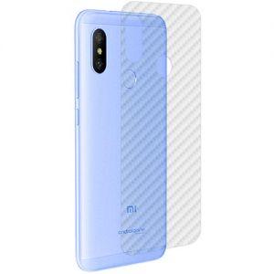 Защитная наклейка для Xiaomi Mi A2 Lite карбон [задняя] (прозрачная)