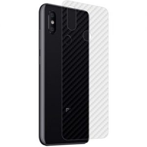 Защитная наклейка для Xiaomi Mi8 карбон [задняя] (прозрачная)