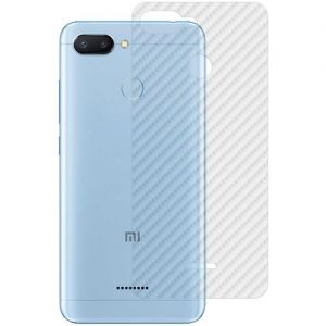 Защитная наклейка для Xiaomi Redmi 6 карбон [задняя] (прозрачная)