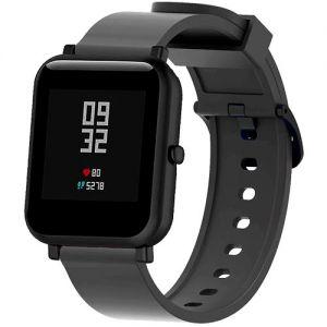 Силиконовый ремешок для Xiaomi Amazfit Bip (черный)