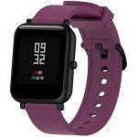 Силиконовый ремешок для Xiaomi Amazfit Bip (фиолетовый)