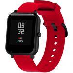 Силиконовый ремешок для Xiaomi Amazfit Bip (красный)