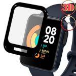 Защитная пленка 3D для Xiaomi Mi Watch Lite [на весь экран] Red Line (прозрачная с черной рамкой)
