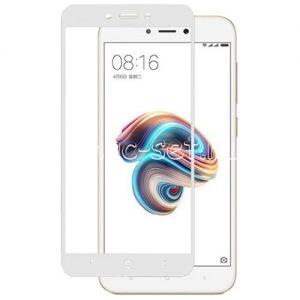 Защитное стекло для Xiaomi Redmi 5A [на весь экран] (белое)