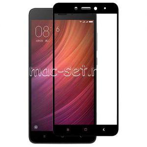 Защитное стекло для Xiaomi Redmi Note 4 [на весь экран] (черное)