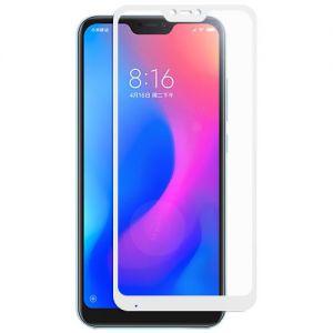 Защитное стекло для Xiaomi Mi A2 Lite [на весь экран] (белое)