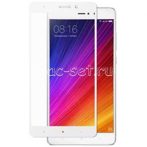 Защитное стекло для Xiaomi Mi5s Plus [на весь экран] (белое)